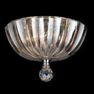 Worldwide W33141C10-GT Mansfield Golden Teak Crystal 10 Inch Diameter Small Flush Lighting