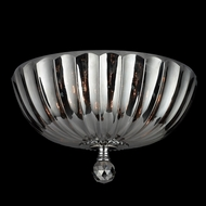 Worldwide W33141C14-SM Mansfield Smoke Crystal 14 Inch Diameter Ceiling Lamp - Medium