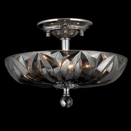 Worldwide W33142C16-SM Mansfield Golden Teak Crystal Large Flush Mount Light Fixture