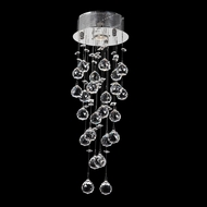 Worldwide W33258C8 Icicle 24 Inch Tall Round Canopy Ceiling Lighting