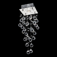 Worldwide W33259C8 Icicle 24 Inch Tall Square Canopy Chrome Crystal Ceiling Lamp