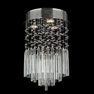Worldwide W33260C12-CL Torrent Round 12 Inch Diameter Small Crystal Ceiling Light Fixture