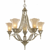 ELK 3826-5 Chelsea Trump Rustic Crystal 5-Light Chandelier