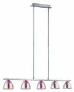 EGLO 90079A Acento 5 Lamp 35 Inch Wide Modern Kitchen Island Light Fixture