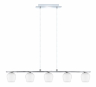 EGLO 91572A Carda Transitional Chrome 5 Lamp Island Pendant Lighting - 35 Inches Wide