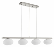 EGLO 89319A Etoo Matte Nickel Finish Contemporary 4 Lamp Pendant Island Lighting - 43 Inches Wide