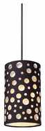 Landmark 68000-1 Enchantment Matte Black Mini Pendant Light Fixture - 6 Inch Diameter
