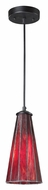 Landmark 70000-1IR Lumino Inferno Red Contemporary 12 Inch Tall Mini Pendant Lamp