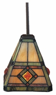 Landmark 684-CB Corona Classic Bronze 6 Inch Diameter Tiffany Mini Lighting Pendant