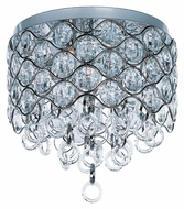 Maxim 23090BCPC Cirque 15 Inch Diameter Beveled Crystal Flush Lighting
