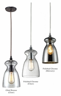 Landmark Menlow Park 11 Inch Tall Transitional Mini Drop Lighting Fixture With Finish Options