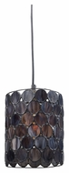 Landmark 72001-1 Cirque 7 Inch Diameter Matte Black Contemporary Mini Pendant Lamp