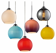 ELK 10240/1 Cassandra Contemporary Round Mini Pendant Light Fixture With Glass Options