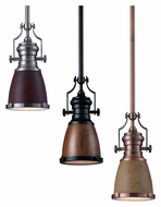 Landmark 66712-1 Chadwick 8 Inch Diameter Mini Pendant Lighting Fixture With Shade Options