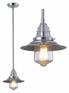Landmark 66807-1 Insulator Glass Mini Vintage 9 Inch Diameter Hanging Pendant Light