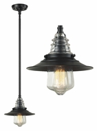 Landmark 66817-1 Insulator Glass Oiled Bronze Vintage Mini Pendant Lamp