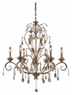 Landmark 08086-WS Angelite Weathered Silver 6 Candelabra Chandelier Lighting - Traditional