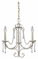 Landmark 413-AS Cambridge Antique Silver 3 Candle Mini Chandelier Light Fixture