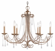 Landmark 416-AS Cambridge Traditional 27 Inch Diameter Antique Silver Lighting Chandelier
