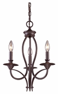 Landmark 61031-3 Medford Small 3 Candle Oiled Bronze Traditional Chandelier