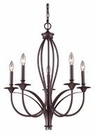 Landmark 61032-5 Medford Large Traditional 5 Candle Oiled Bronze Chandelier Light