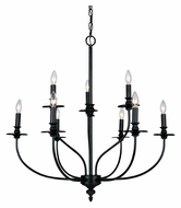 Landmark 289-OB Hartford Traditional Large 9 Light Chandelier - 29 Inch Diameter
