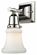 Landmark 66230-1 Barton Polished Nickel 11 Inch Tall Transitional Wall Light Sconce