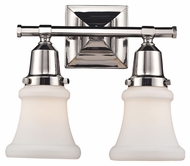 Landmark 66231-2 Barton 2 Lamp Polished Nickel Transitional Bath Sconce - 12 Inches Wide