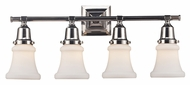 Landmark 66233-4 Barton 25 Inch Wide 4 Lamp Transitional Vanity Lighting For Bathroom