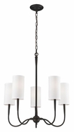 Landmark 61041-5 Richmond Oiled Bronze Transitional 25 Inch Tall Hanging Chandelier
