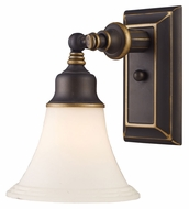 Landmark 66174-1 Lurray Aged Bronze 10 Inch Tall Wall Lighting With LED Option