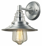 Landmark 66700-1 Insulator Glass 12 Inch Tall Brushed Aluminum Wall Light Fixture