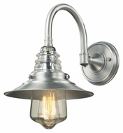 Landmark 66702-1 Insulator Glass Vintage 14 Inch Tall Wall Sconce - Brushed Aluminum