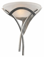 Landmark 001-TS Aurora Transitional Tarnished Silver Wall Light Sconce