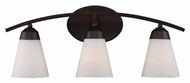 Landmark 67018-3 Tempest 25 Inch Wide Aged Bronze Transitional Vanity Light Fixture