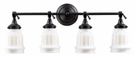 Landmark 66214-4 Quinton Parlor 4 Lamp Oiled Bronze Transitional Vanity Lighting For Bathroom