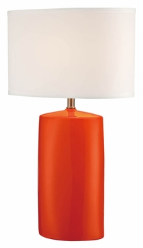 lite source ls 22236orn narvel ii orange ceramic living