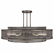 Fine Art 800140 Relativity 12 Lamp Antiqued Steel Modern 60 Inch Diameter Pendant Lamp