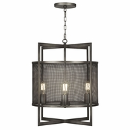 Fine Art 801140 Relativity 4 Lamp Contemporary Style 25 Inch Tall Antiqued Steel Drop Lighting