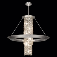 Fine Art 813440 Celestial Small 38 Inch Tall Silver Leaf Finish Pendant Lighting Fixture