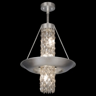 Fine Art 813640 Celestial 6 Lamp Silver Leaf 17 Inch Diameter Ceiling Light Pendant - Small