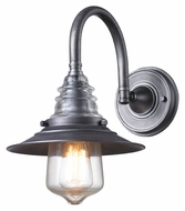 Landmark 66822-1 Insulator Glass 14 Inch Tall Wall Sconce Light Fixture - Weathered Zinc