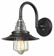 Landmark 66812-1 Insulator Glass Vinteage 14 Inch Tall Oiled Bronze Wall Sconce Lighting