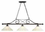 Landmark 63004-3 Traditional 3 Lamp Weathered Bronze Finish Kitchen Island Light Fixture