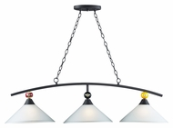 Landmark 66264-3 Modern 47 Inch Wide Billiards Island Lighting - Matte Black