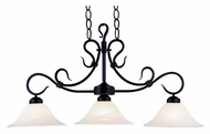 Landmark 247-BK Buckingham 40 Inch Wide Matte Black Island Light With LED Option