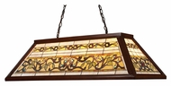 Landmark 70022-4 Tiffany Buckingham Dark Mahogany Wood Finish 44 Inch Wide Island Lighting Fixture