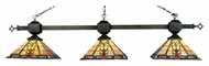 Landmark 663-TB Sedona 3 Lamp Bronze 60 Inch Wide Tiffany Island Lighting
