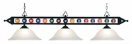 Landmark 190-1-BK-G1 3 Lamp 58 Inch Wide Billiard Lighting Fixture - Tiffany Bronze