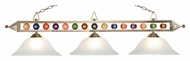 Landmark 190-1-SN-G1 Satin Nickel Finish 3 Lamp Billiard Lighting - 58 Inches Wide